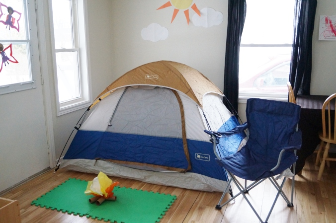 Yup! That's a tent in our dining room!