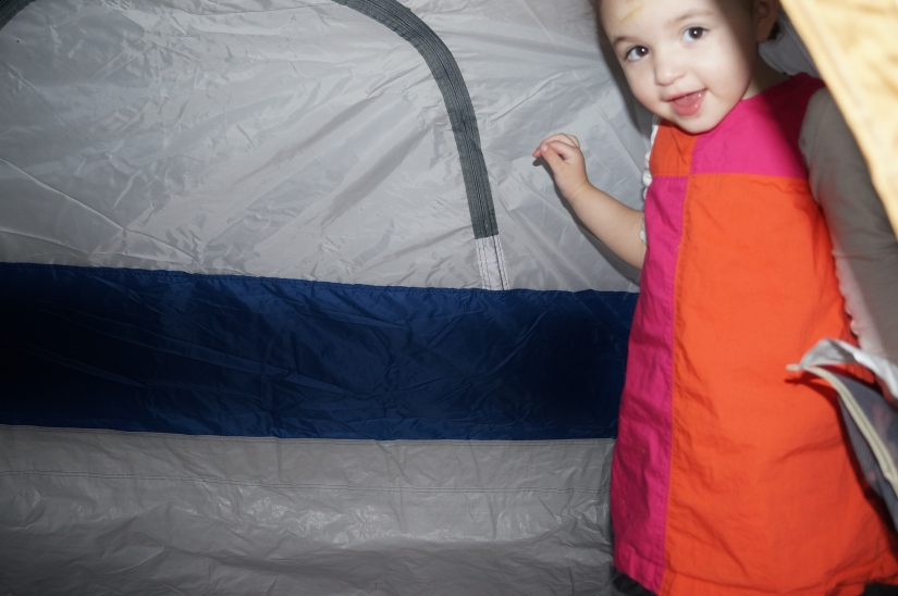 E loved the tent!