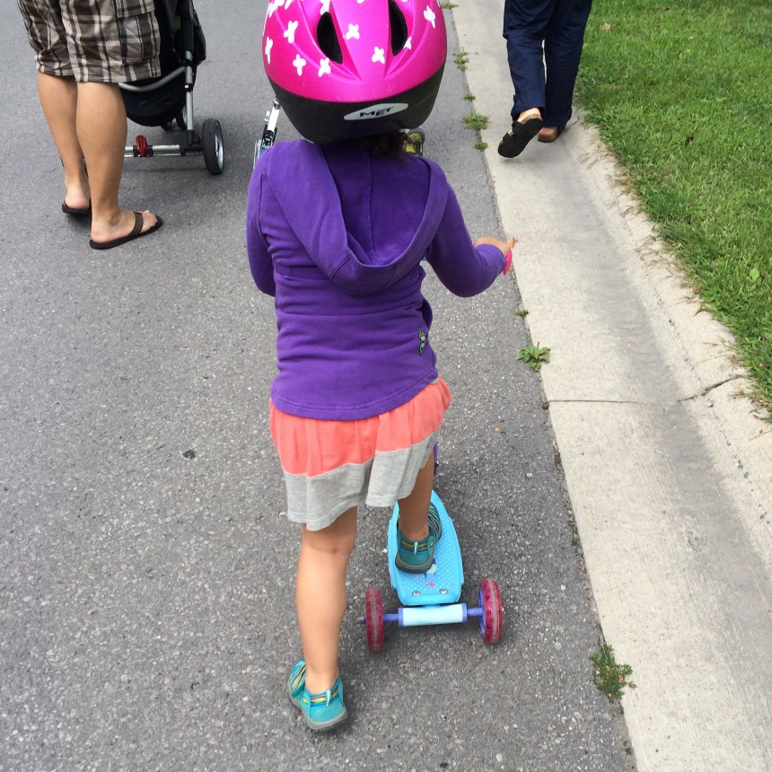 Did I mention scooting